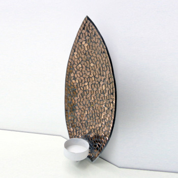 Copper Mirror Mosaic Decorative Wall Sconce