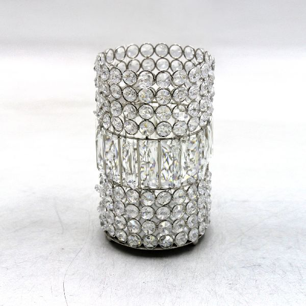 Crystal Glass Candle Holder Votives Round Shape
