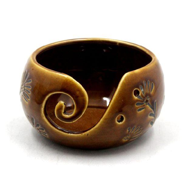 Decorative Brown Ceramic Candle Votive