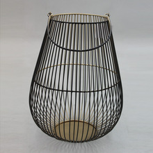 Gold Plated Metal Wire Mesh Lanterns