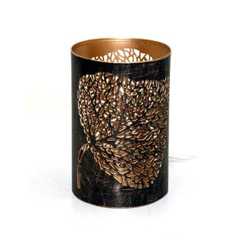 Gold Wash Iron Round Decorative Votive