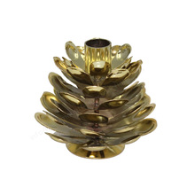 Iron Candle Holder Stands Brass Plated