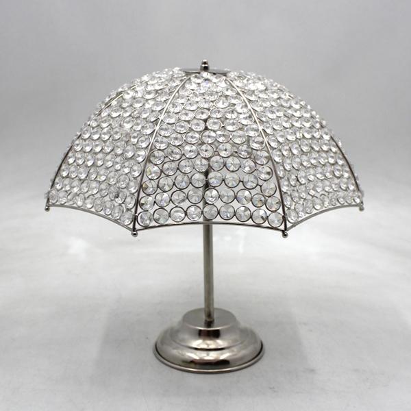 Iron Crystal Table Decorative Umbrella