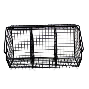 Matt Black Iron Newspaper Rack Wall Decorative
