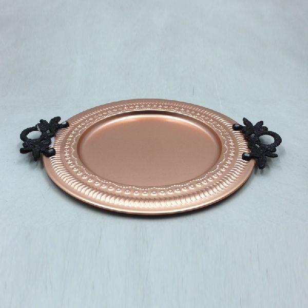Matt Copper Aluminium Iron Round Plate