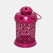 Matt Pink Home Decoration Metal Lanterns