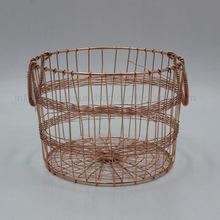 Metal Wire Basket Iron Round Basket
