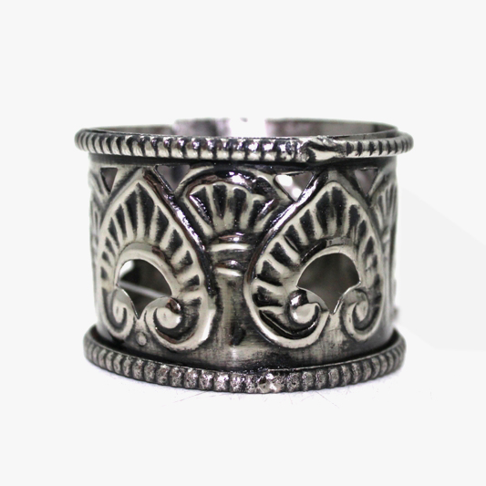 Nickel Antique Decorative Iron Napkin Holder