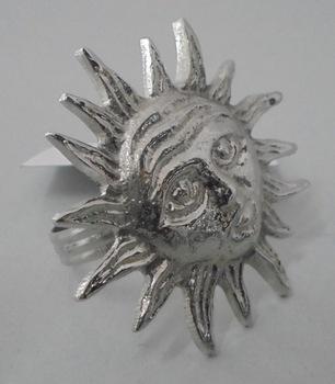 Nickel Designer Brass Napkin Ring Holder