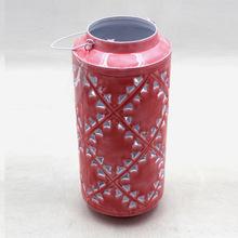 Pink Metal Candle Lantern