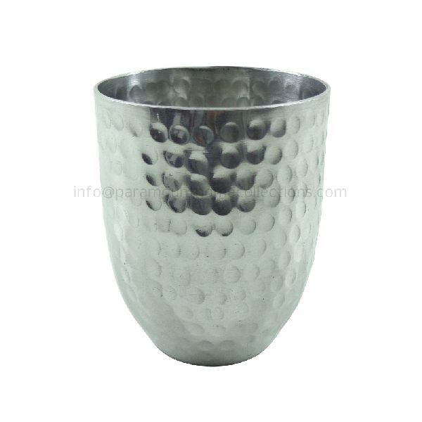 Polished Aluminium Metal Powder Pot