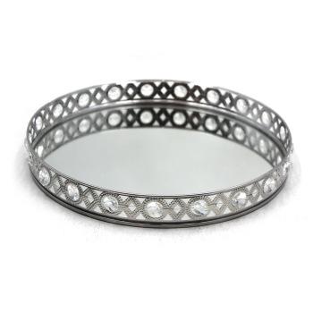 Stainless Steel Wedding Decorative Mirror Trays
