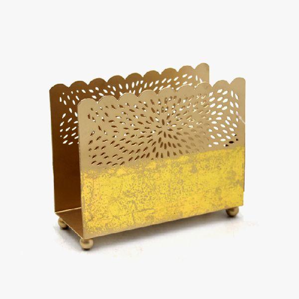 Stylish Decorative Gold Plating Napkin Holder