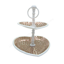 Wedding Cake Stand Copper Mosaic