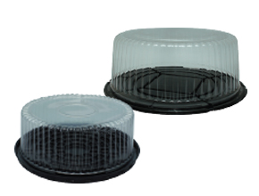 Black base Clear Cake Container with Clear Lid