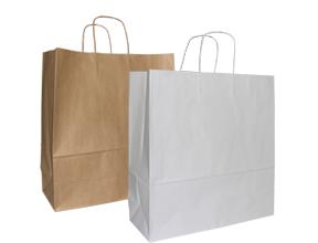 Brown/White Kraft Paper Bag