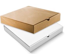 Brown/White Pizza Box