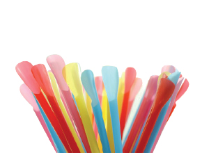 Colored Spoon Straw