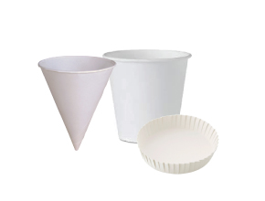 Paper Cone cups | Glass Cover