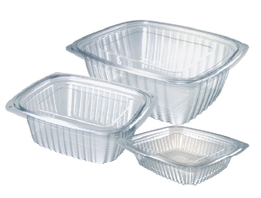 Rectangular Salad Clear Containers