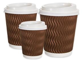 Zig-Zag Ripple Paper Cups