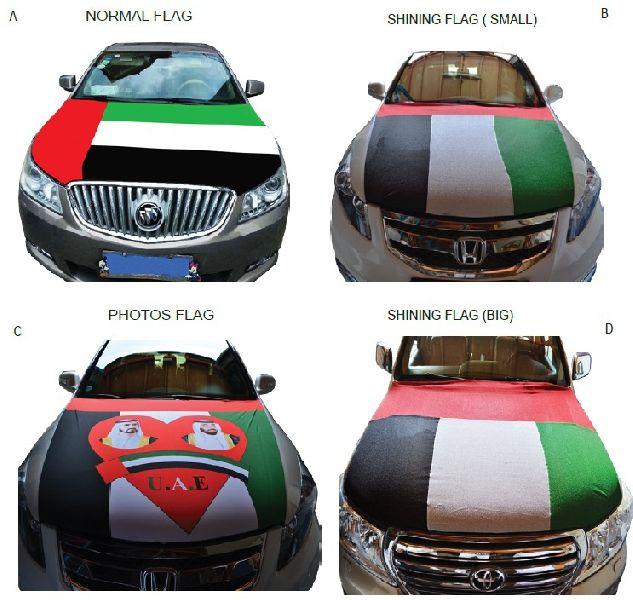 Car bonnet flags