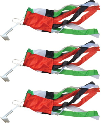National day Car side glass ribbons