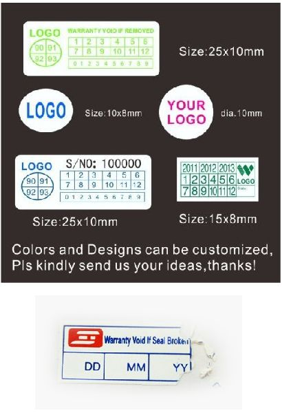 Security sticker printing