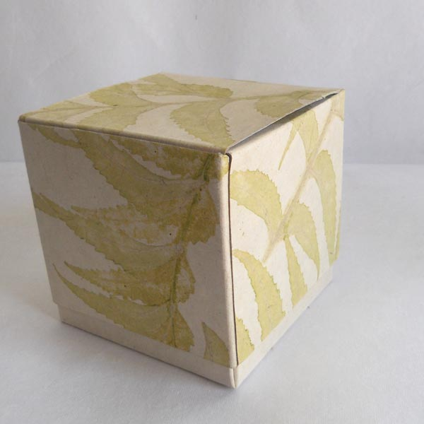 100% hemp paper given natural leaves impression boxes