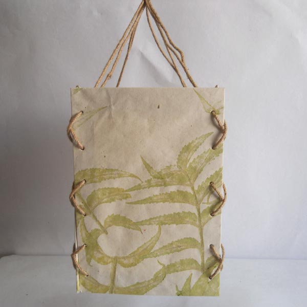 100% hemp paper given real natural leaves impression lamp