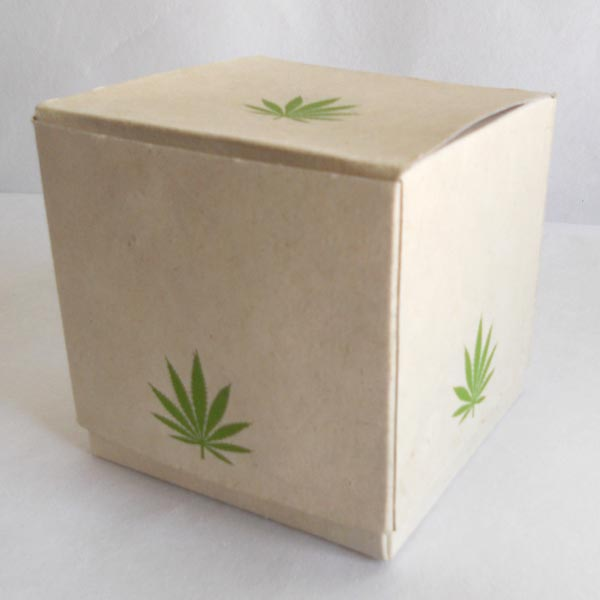 100% hemp paper printed green color hemp boxes