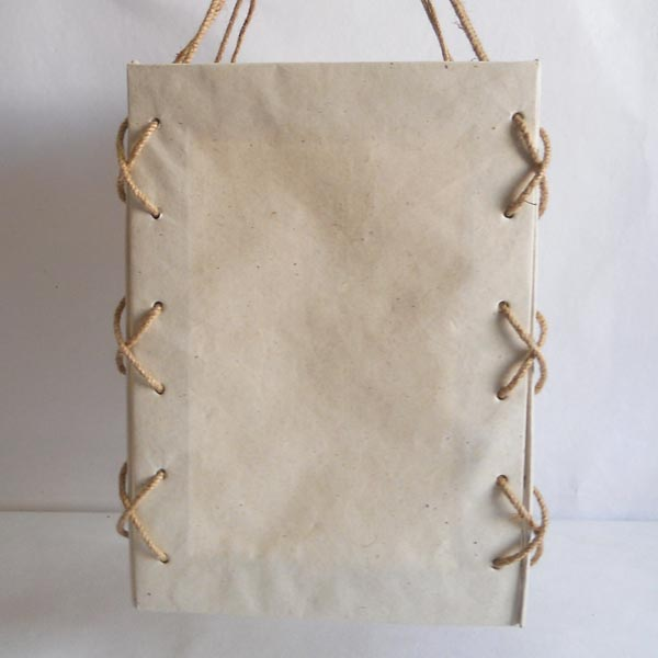 100% hemp paper with a natural color solid cardboard lamp
