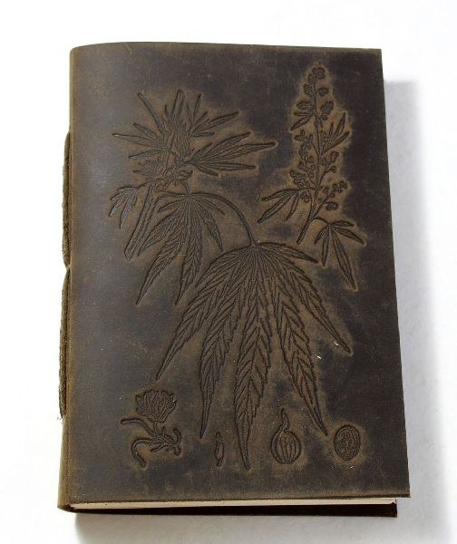 Antique colour hand bound buffalo jute leather journal
