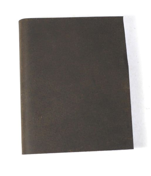 Black colour oil pull up buffalo leather journal