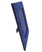 blue embroidery photo frame