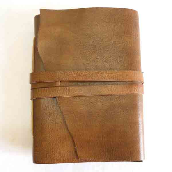 Ethnic style goat leather journal