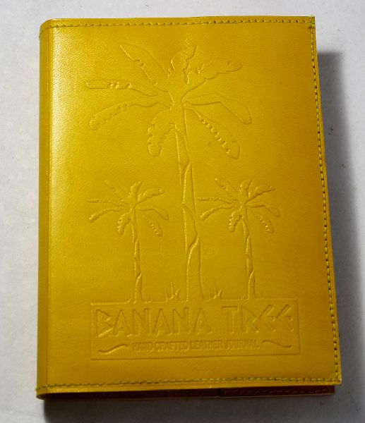 goat leather with banana tree embossed beautiful jouenal