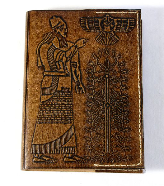 Hand crafted gypsy style wrap around goat leather journal