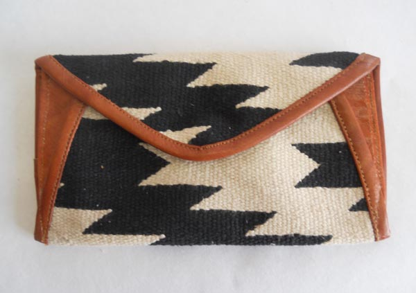 Hand woven cotton kelim / dhurries clutches