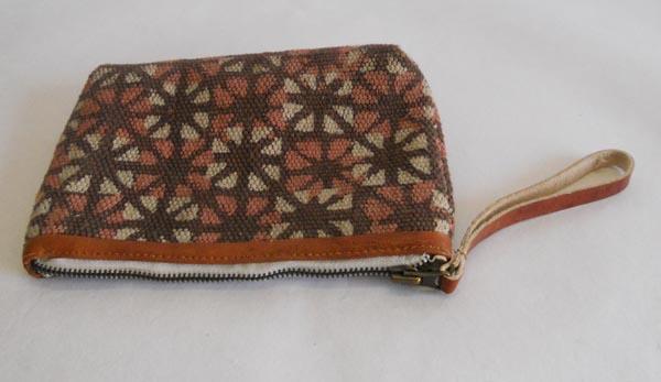 handmade cotton dhurrie clutches bag