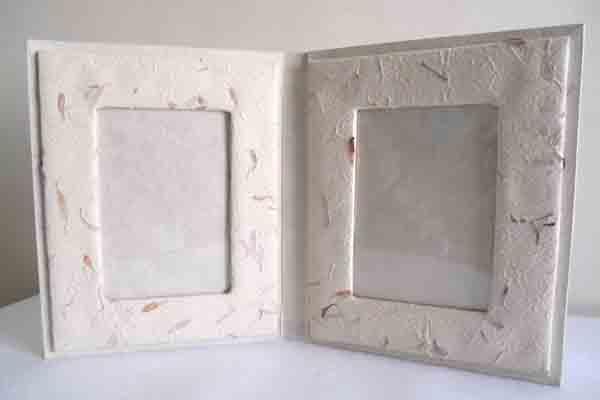 Hemp garden fiber paper frame