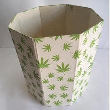 hemp paper printed hemp leaves