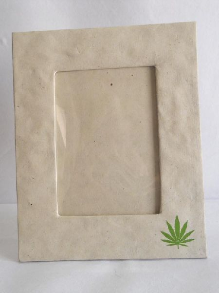 Printed hemp paper photo frame