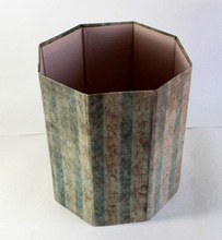 printed paper dustbin