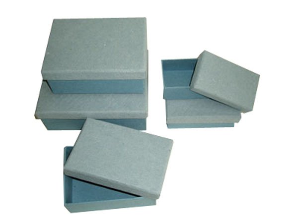 recycled denim rags paper Solid boxes