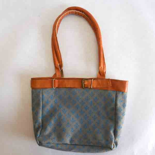 Screen printed canvas leather being gift bag