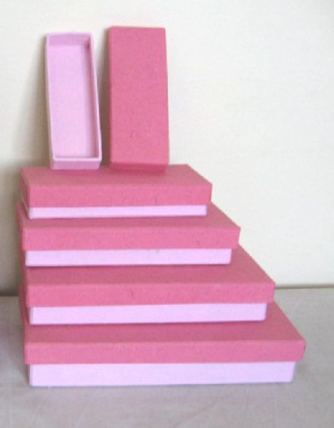 Solid boxes made of card board and plain