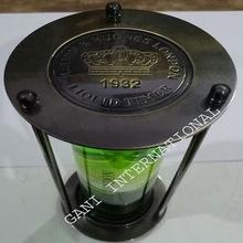 Antique Brass Green Liquid Sand Timer
