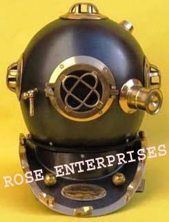 Black Antique Diving Helmet