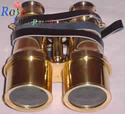 Brass Binocular with Leather Belt